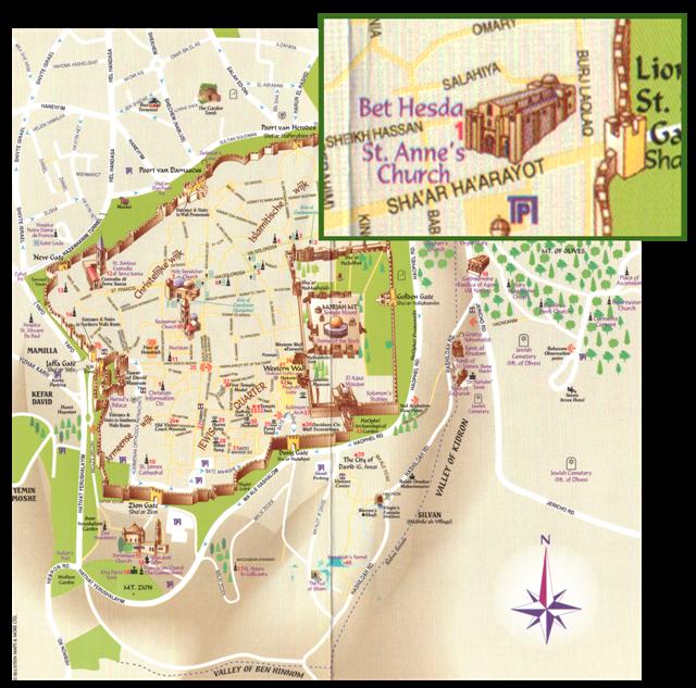 ingang tempelplein jeruzalem op plattegrond
